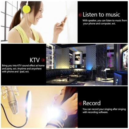 WS-858 Wireless Handheld Microphone KTV Karaoke Stereo USB Player Bluetooth MIC