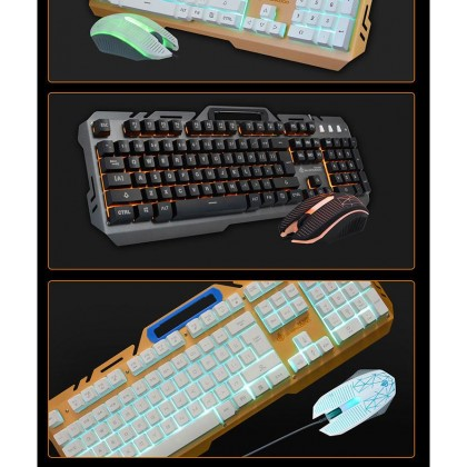D950 Metal Light Keyboard with Mouse (Any Color)