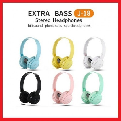 J-18 Extra Bass HIFI Sound Stereo Headphone