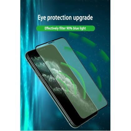 iPhone X/XS/XR/XS Max/11/11 Pro/11 Pro Max/SE Green Light Ray Clear Tempered Glass