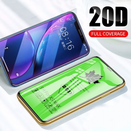 iPhone X/XS/XR/XS Max/11/11 PRO/11 PRO Max 20D Curved Tempered Glass