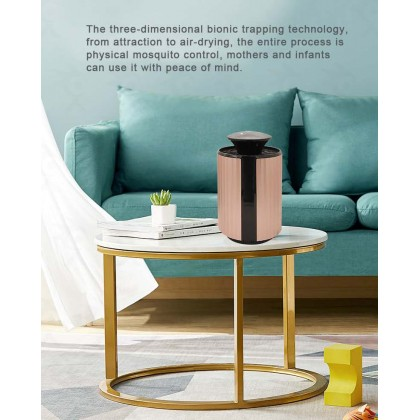 2020 New USB Charge Suction Type Mosquito Killer Lamp (Rose Gold)