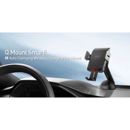 Momax CM12D Q. Mount Smart 2 IR Auto Clamping Wireless Charging Car Mount (AnyColor)