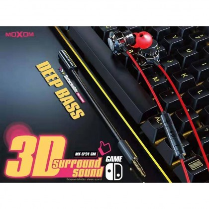 Moxom MX-EP24 3D Surround Sound Gaming Earphone With Detachable Microphone (Anycolor)