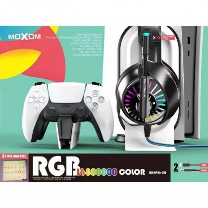 Moxom MX-EP26GM 3D Surround Sound and Deep Bass 3.5mm+USB 50mm Drive Wired Gaming Earphone (Anycolor)