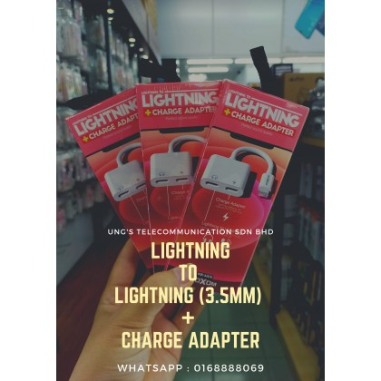 Moxom MX-AX18 Lightning to Dual Lightning 2A Fast Charger + Music Adapetr