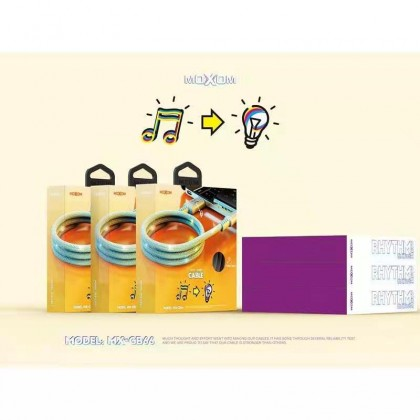 Moxom MX-CB66 Rhythm Luminous Data Cable 2.4A Qualcomm 3.0 Quick Charging/ Sound for Micro/ Lightning/ Type C (Anycolor)