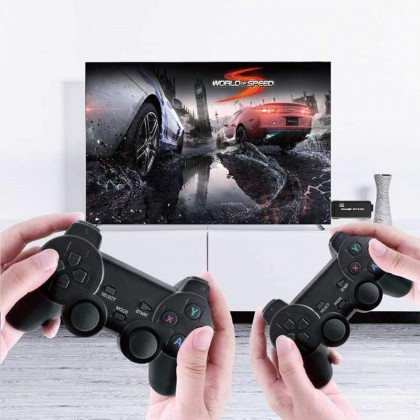 PS3000 32GB 4K Ultra HD Game Stick Game 3000 in 1+2.4G Wireless Controller Gamepad Supports 40 Simulator Format Games