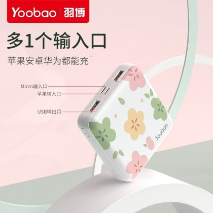 Yoobao 6024 Mini 10000mah Power Bank Dual Input + Dual Output (Anycolor)