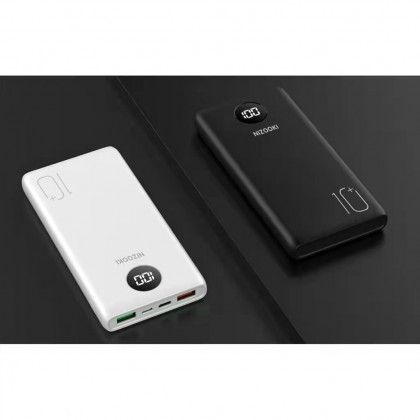 Nizooki M10+ Powerbank 10000mAh PD 18W + QC3.0 / Qualcomm 3.0 Fast Charging / Digital Display / 2 output 2 Input (Anycolor)