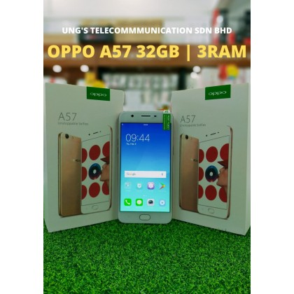 Oppo A57 (3+32GB) USED Full Set 98% Like New