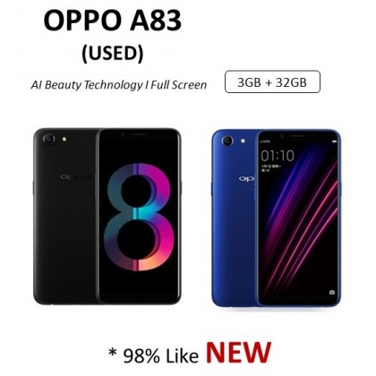 Oppo A83 (3+32GB) USED Full Set 98% Like NEW